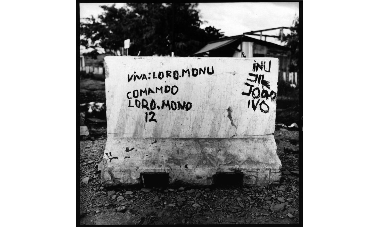 Loromonu tagg ie. Westerners in the streets of Dili, June 2006