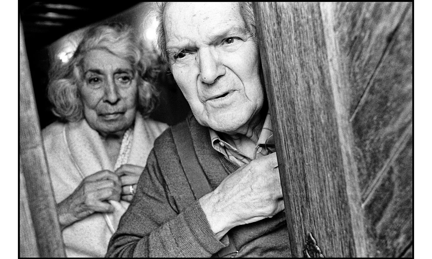 My parents at the door of their house. Igny, France. April 2002