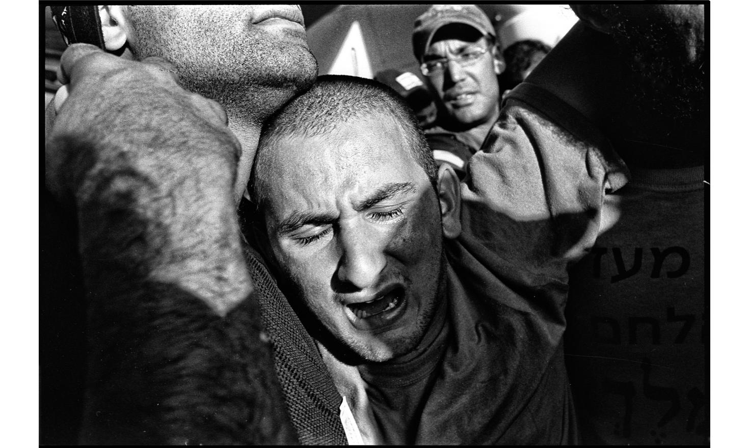 Evacuation by the Israeli army of the Gush Katif settlement. Gaza. August 2005