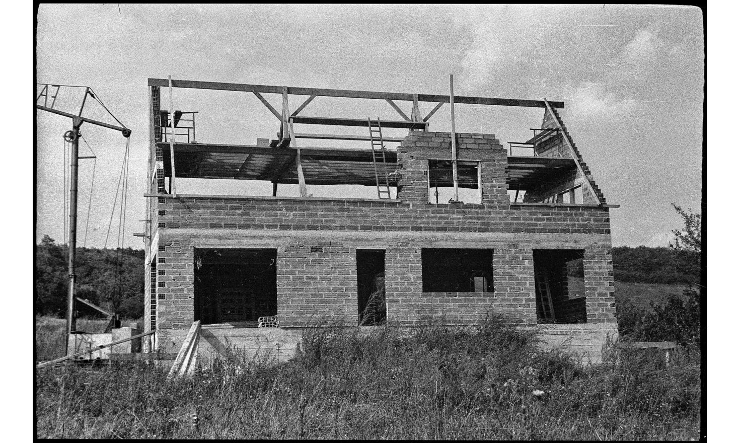 The house of my parents is under construction. Their dream is coming true. Igny, 1963.