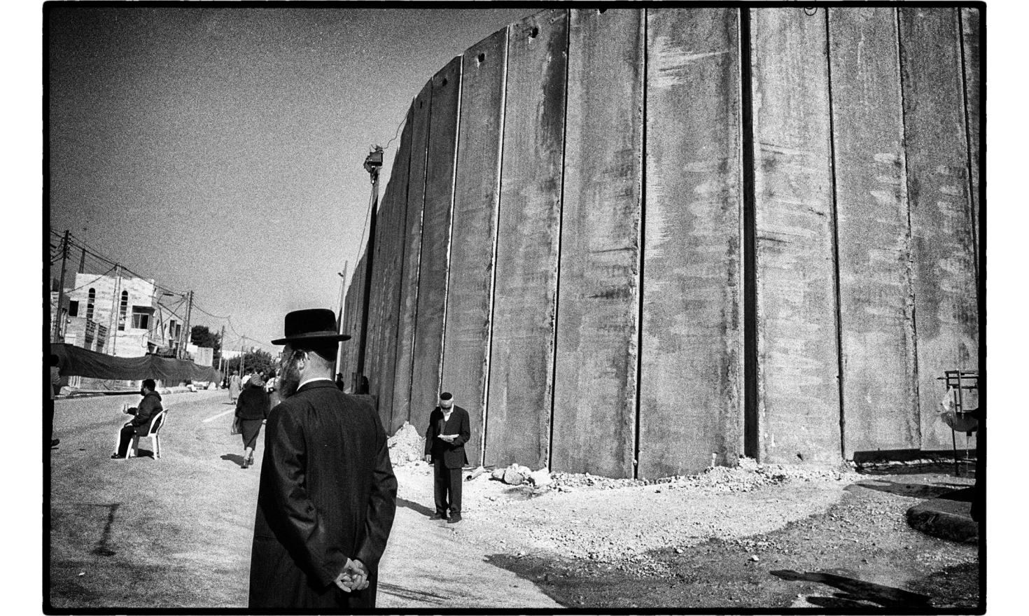 The wall stands by Rachel's Tomb, a holy site of great importance in Judaism. Located next to the city of Bethlehem, in the West Bank today. This is the place where, according to tradition, was buried Rachel, Jacob's wife.November 2005.