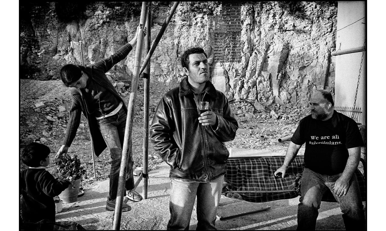 """Palestinian members of the""""Circle of Parents""""association, which brings together Israeli and palestinian parents who have lost a loved one in the conflict. Beit Umar. West Bank. April 2005."""