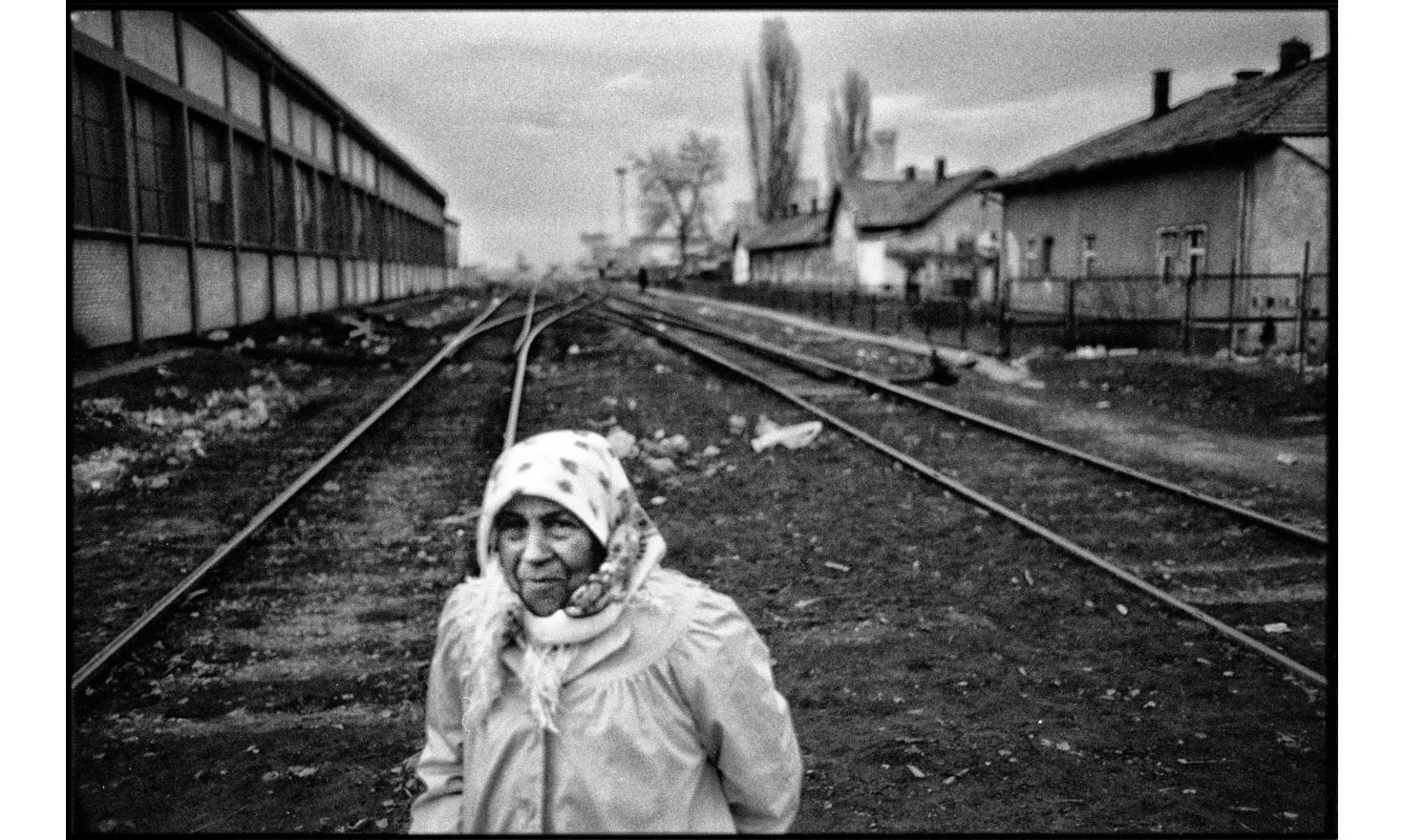 Ashkali in the district of Fushë Kosovë (Kosovo Polje in serb), where the Ashkalis live. They are an albanian ethnic minority. They are muslim and speak albanian as their first language. Kosovo, February 2008.