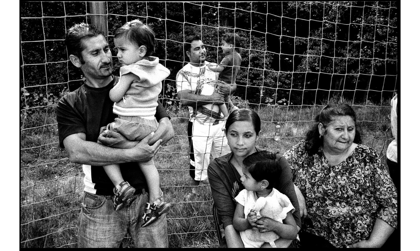 Roma families have been relocated in an area far from the center of town, where they used to live. Vsetin, Czech Republic. Mai 2009.