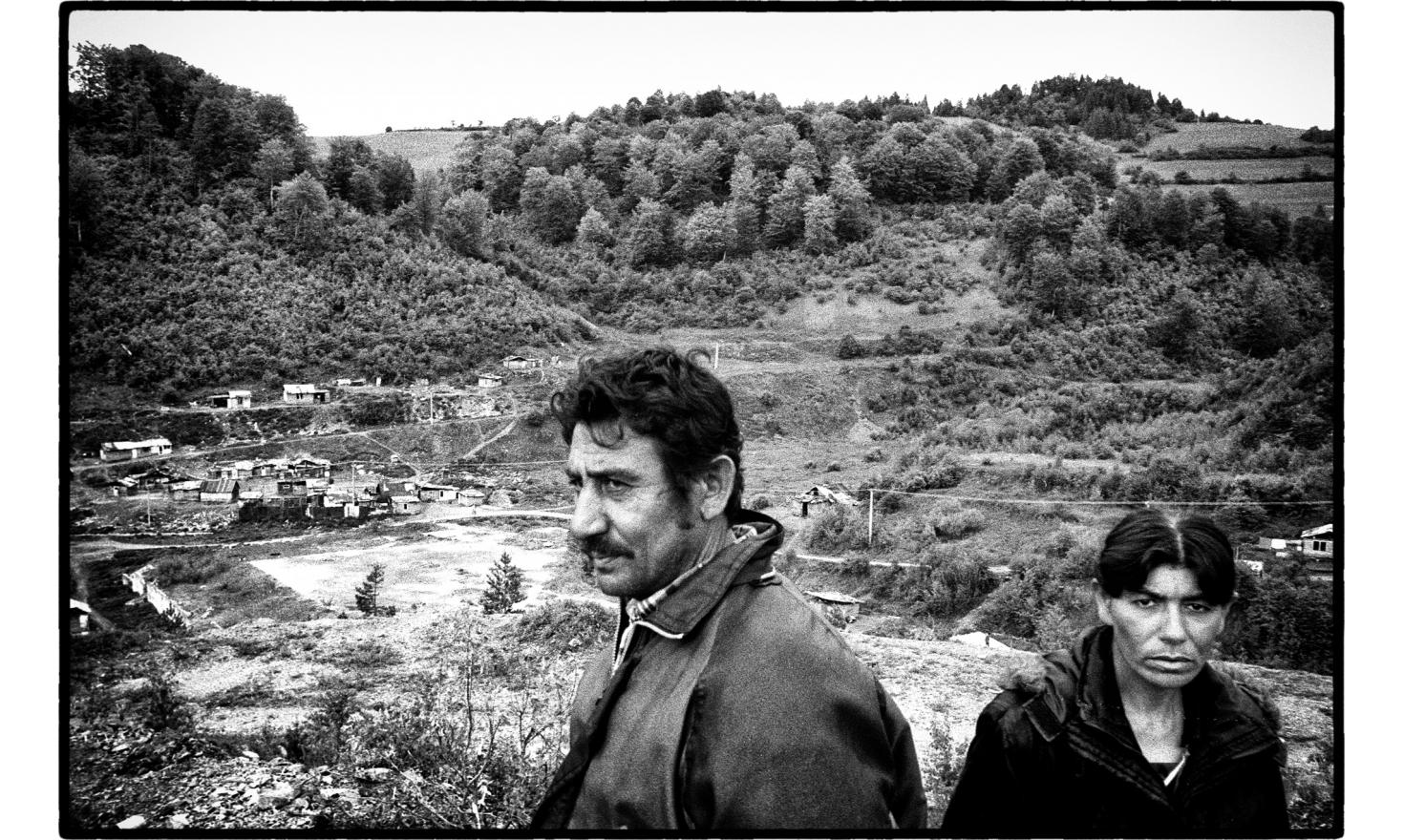 Roma live in an abandoned mine, one of the worst polluted place in the country. Rudnany, Slovakia. May 2009.