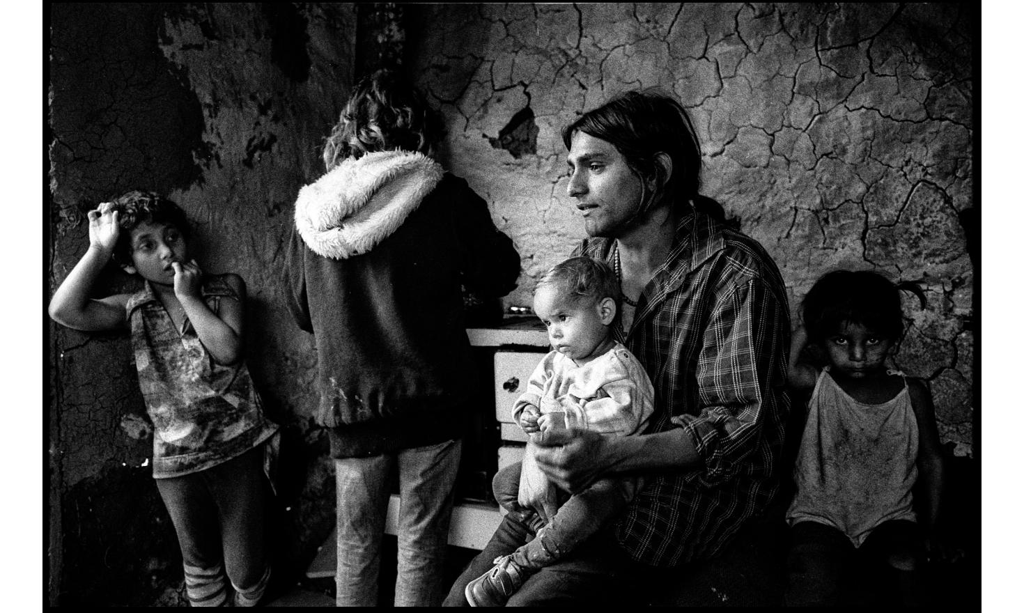 Families of youg roma live very poorly, away from the center of the roma district. Ostravany, Slovakia. May 2010.