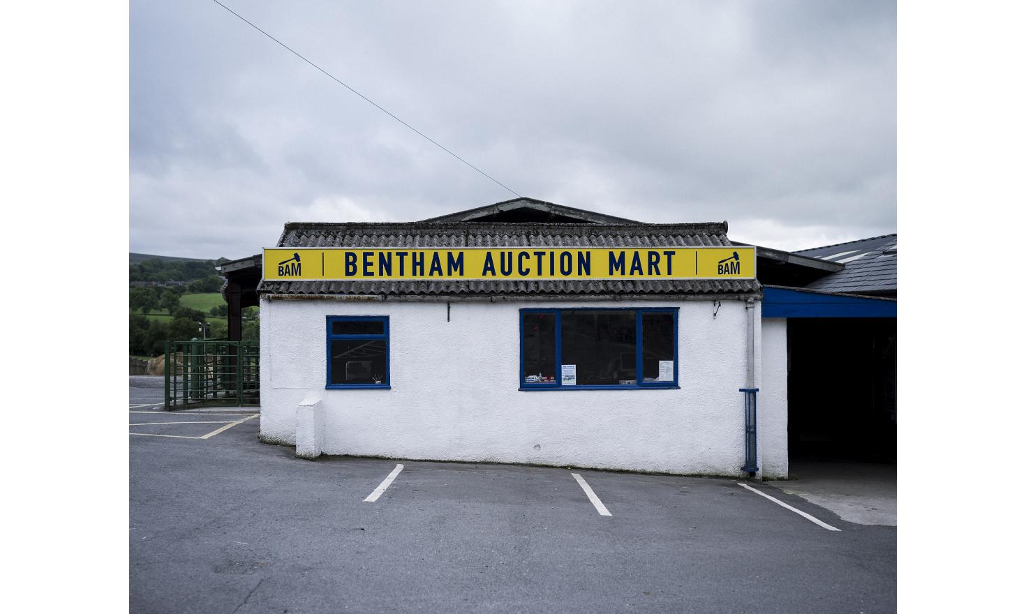 Bentham Auction Mart, in North Yorkshire is where sheep, cattle and pigs are sold at auction, essentially to meat wholesalers.