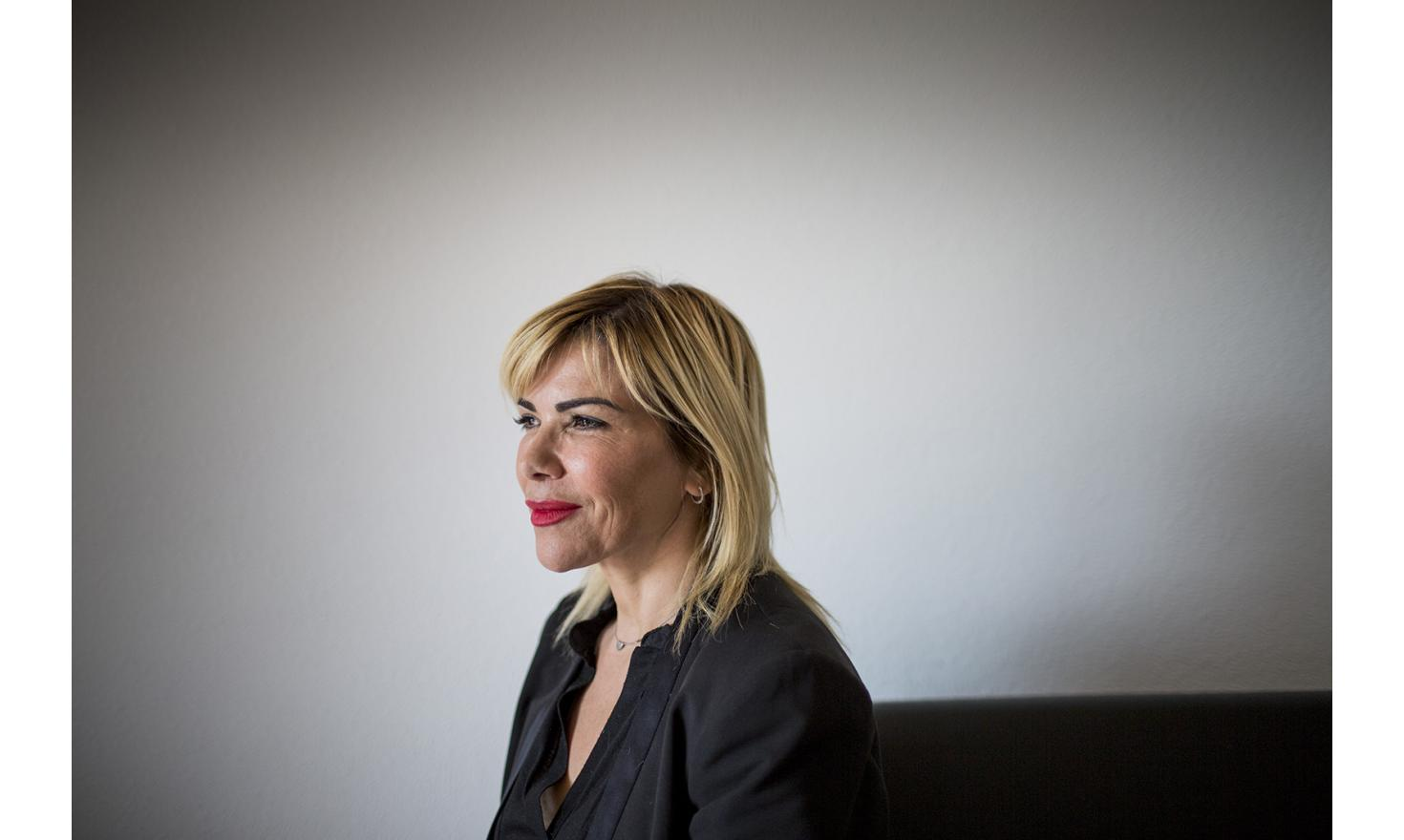 """Leila veils her fifty years with a cocktail of operatiosn and injections. """"I've always thought of my self as an ugly duckling. So today this helps me transmit the image I want of myself to thers. I am starting like mysel."""" Leila, Marseille, 3 May 2016"""