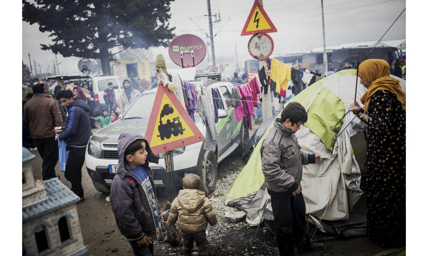 Macedonian border, Idomeni