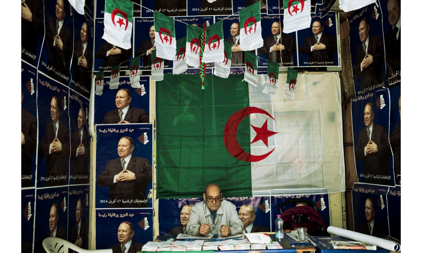 Algiers. President Bouteflika's supporters office