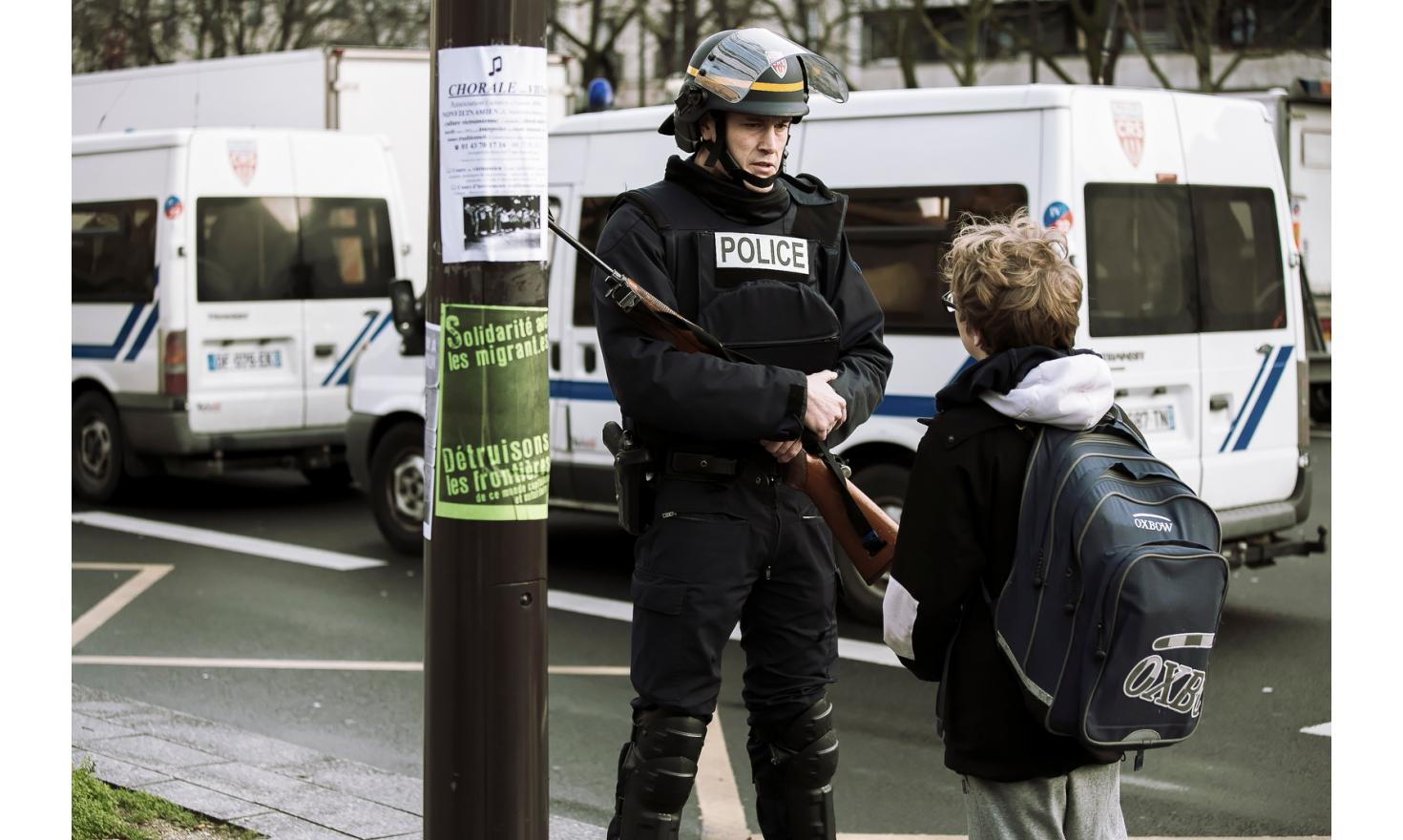 During the Hypercacher hostage-taking, cours de Vincennes, january 9th