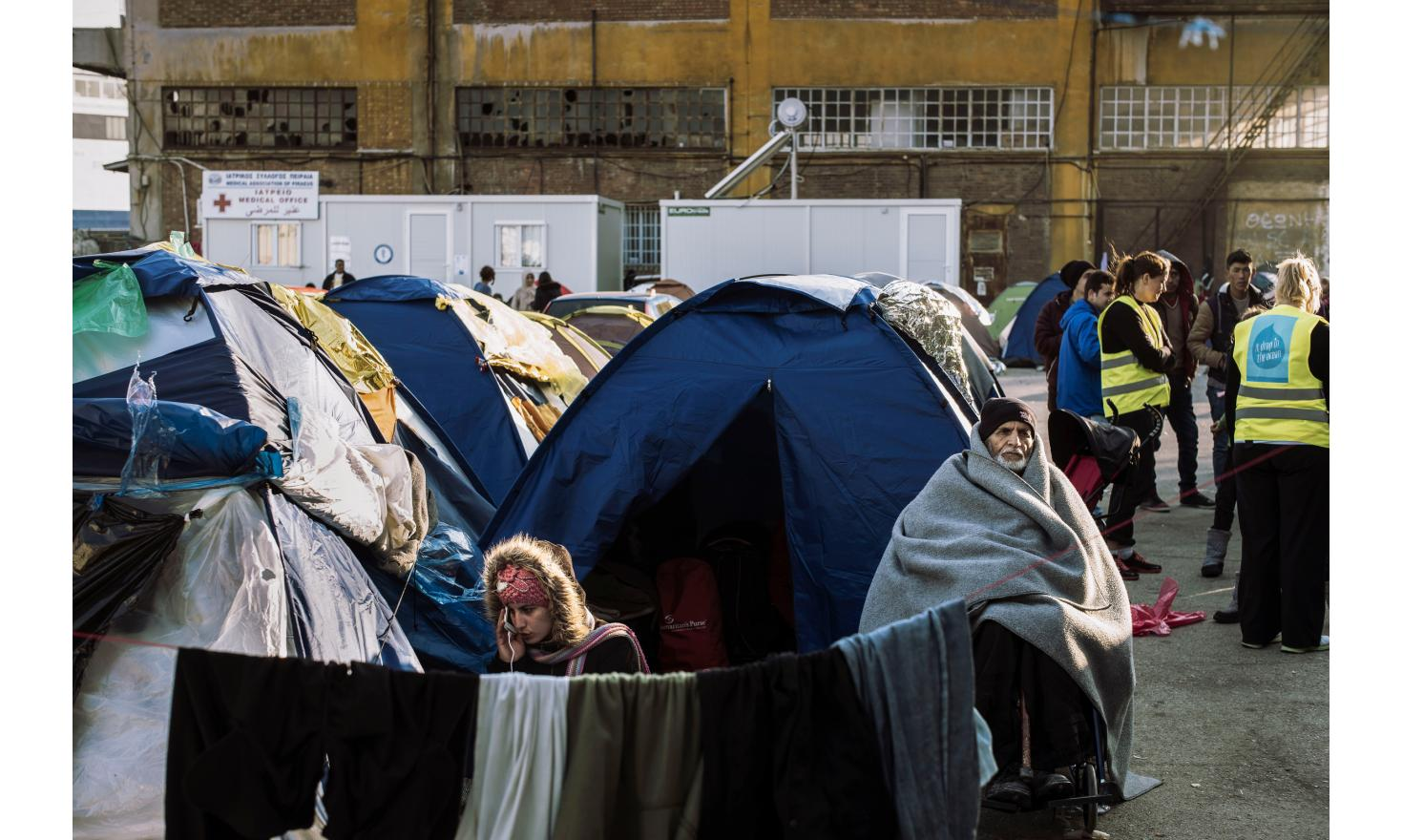 Piraeus refugees camp, Athens