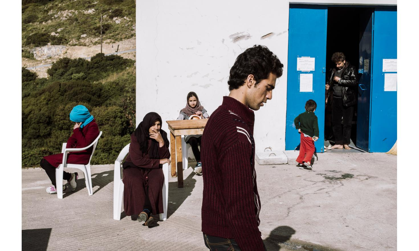 Two families of refugees from Afghanistan, Agathonisi island