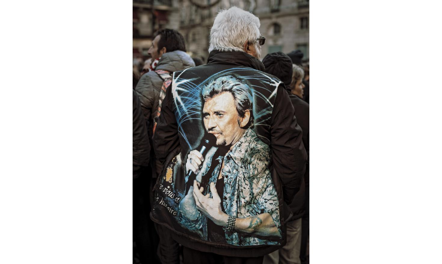 Tribute to Johnny Hallyday in Paris