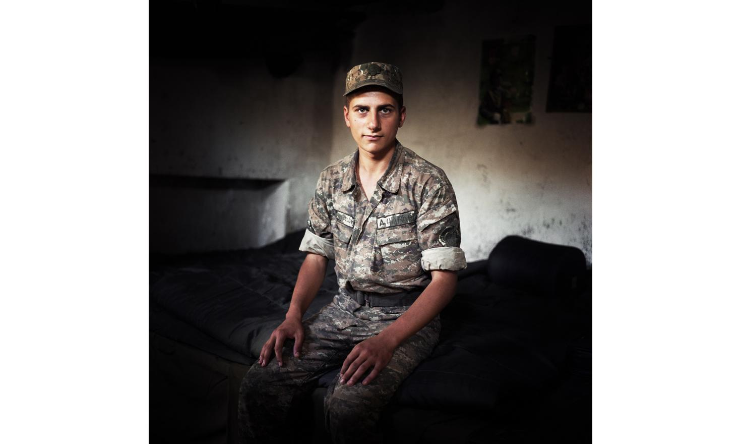 A young soldier on the frontline during his service in 2011