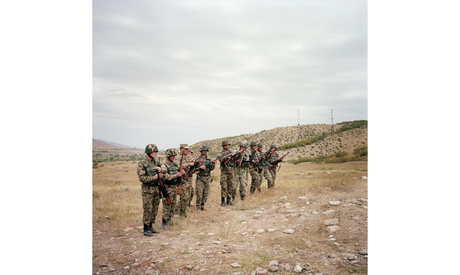 A shooting training in a military base in Askeran region
