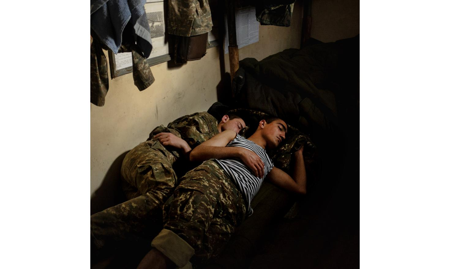 Young soldiers from Nagorno-Karabagh on the contact line with Azerbaijan