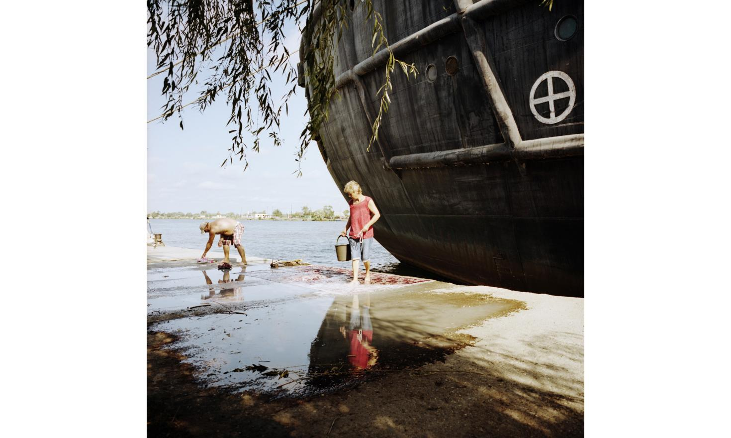 Carpets cleaning along the Danube in Sulina