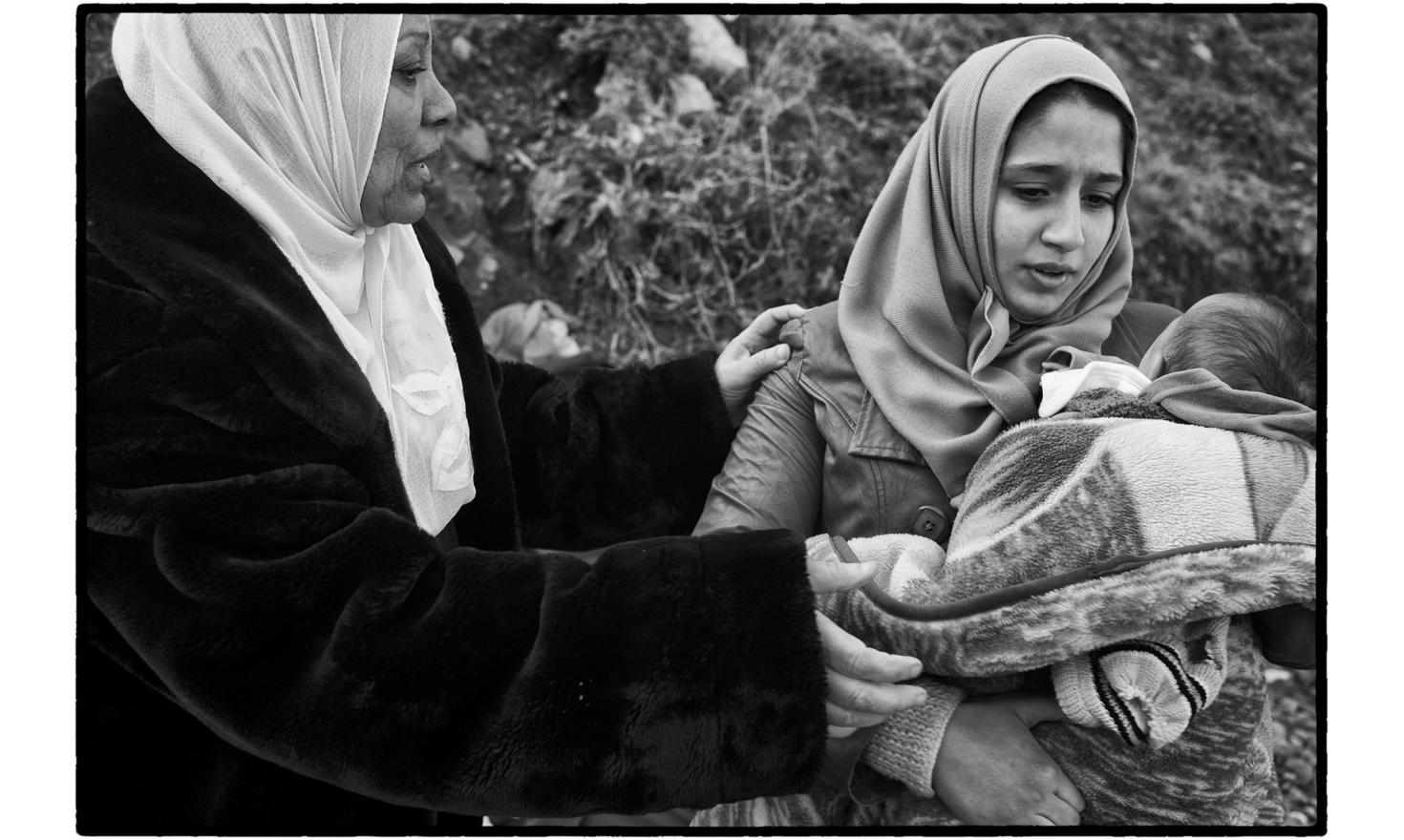 Lesbos, Greece. Something new has emerged in recent months: women and children now account for over half the passengers. Often four generations of the same family are fleeing war, violence or terror together.