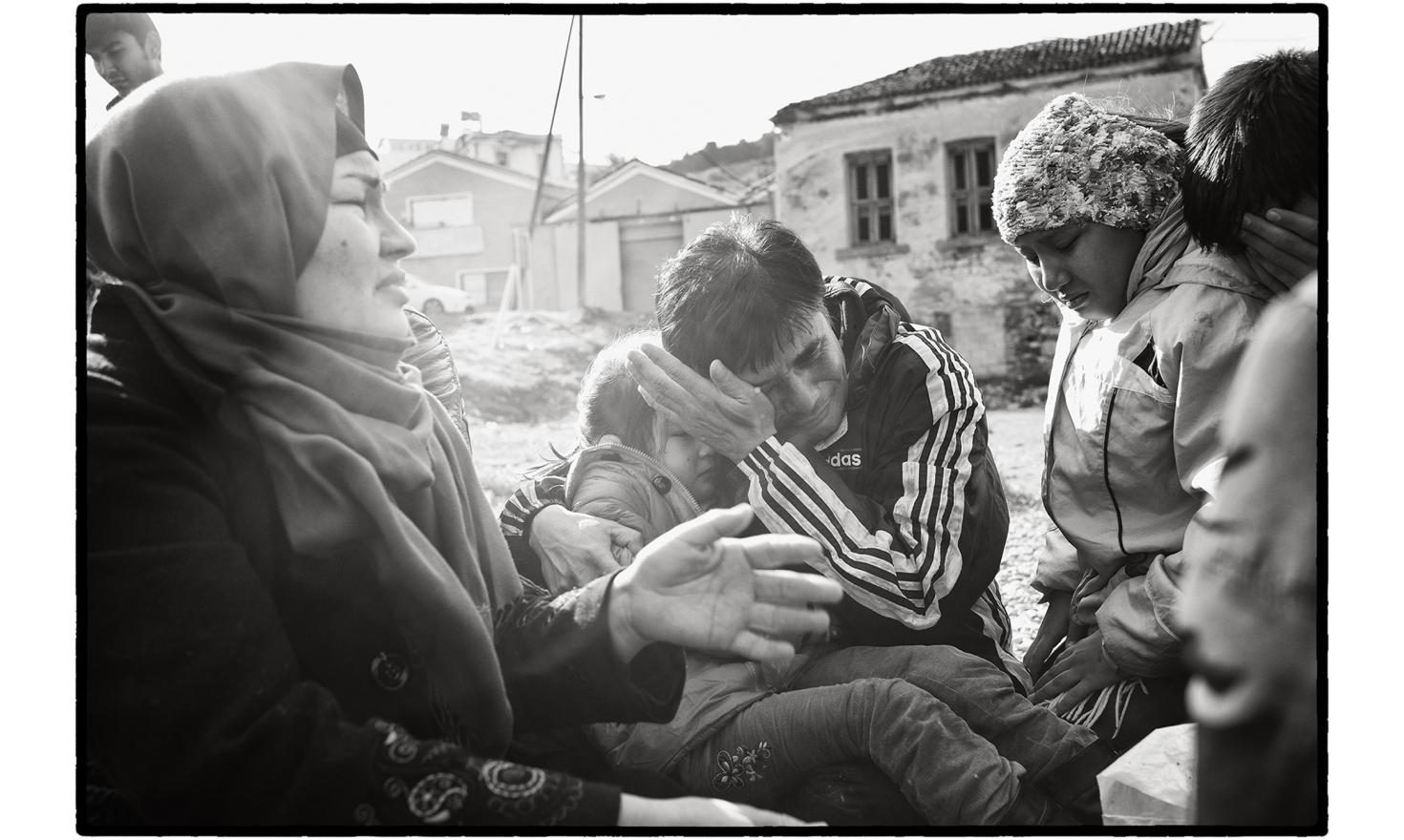 Lesbos, Greece. The passengers in these makeshift boats, and the women and children in particular, are highly traumatised by a crossing they know to be dangerous. Most of them do not know how to swim and have never even seen the sea before.