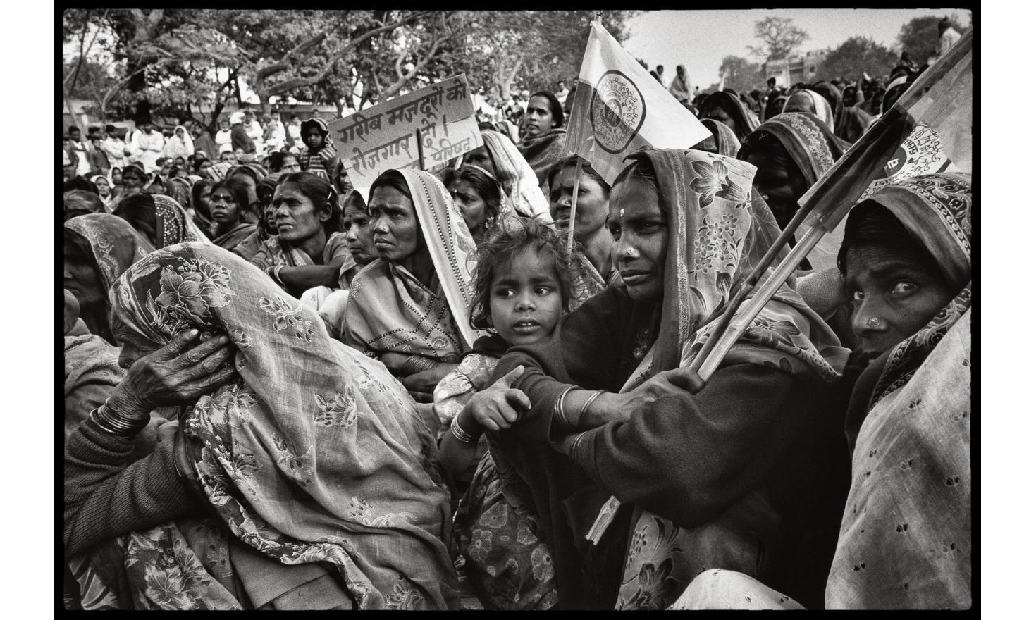 Bagaha, Bihar, India Even if they have been deprived of the right to own land, according to Indian law, women are at the forefront of the battle for the landless.