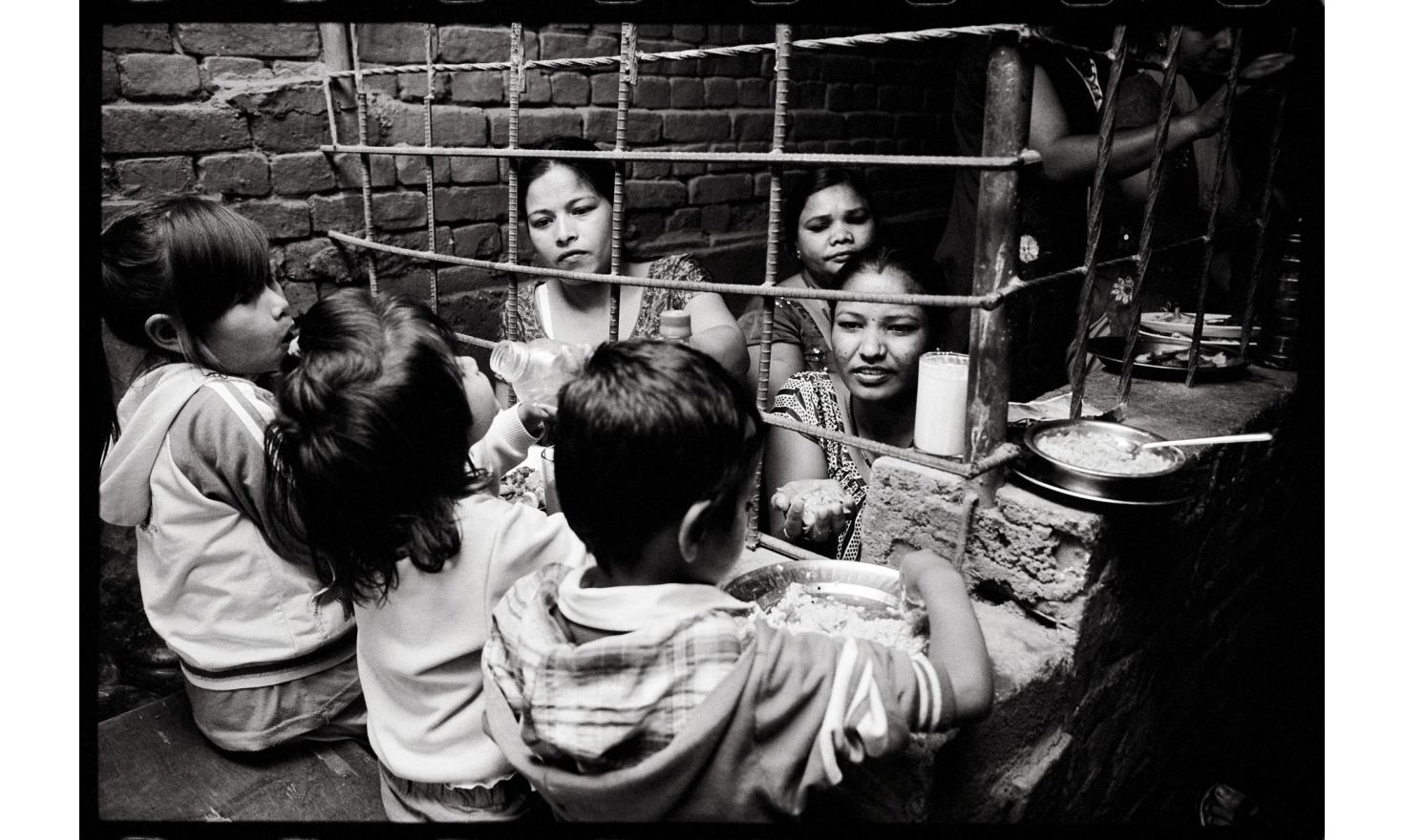 Kathmandu, Nepal. In Nepal, when a woman is sentenced to jail, she goes there with her children. Based in Kathmandu, an NGO takes care of them now. With the permission of the mothers, the children leave the jail to stay in shelters.