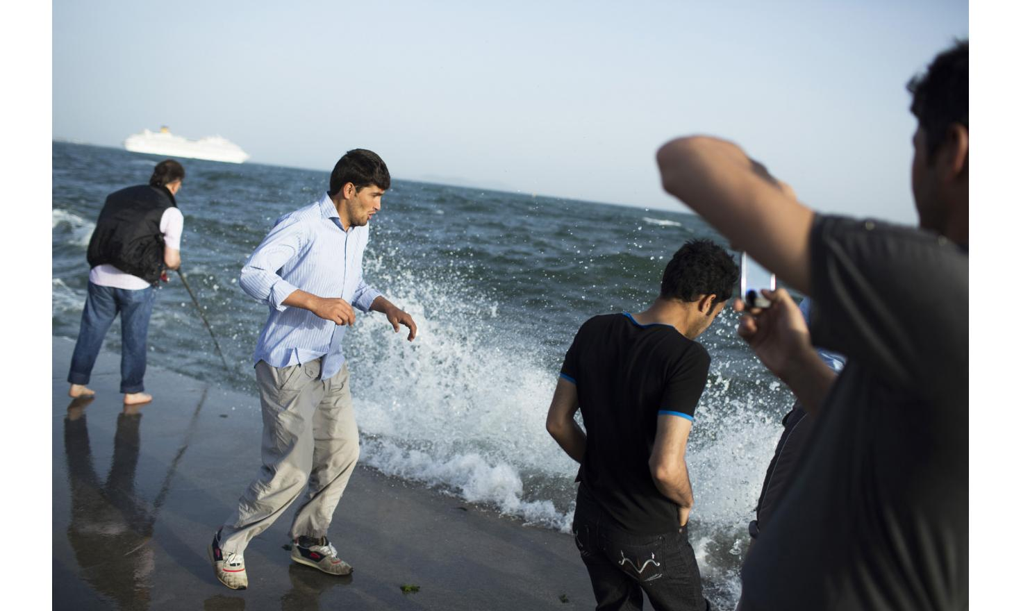 Istanbul, Turkey 23/05/2013 Rohani had never seen the sea before arriving in Istanbul. They can walk out every evening because police rarely arrest Afghan migrants.