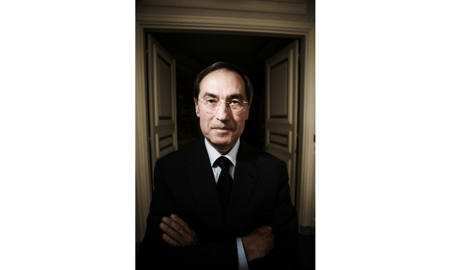 Claude Gueant, French minister of the interior under Nicolas Sarkozy's presidency. Portrait in the ministry in 2012