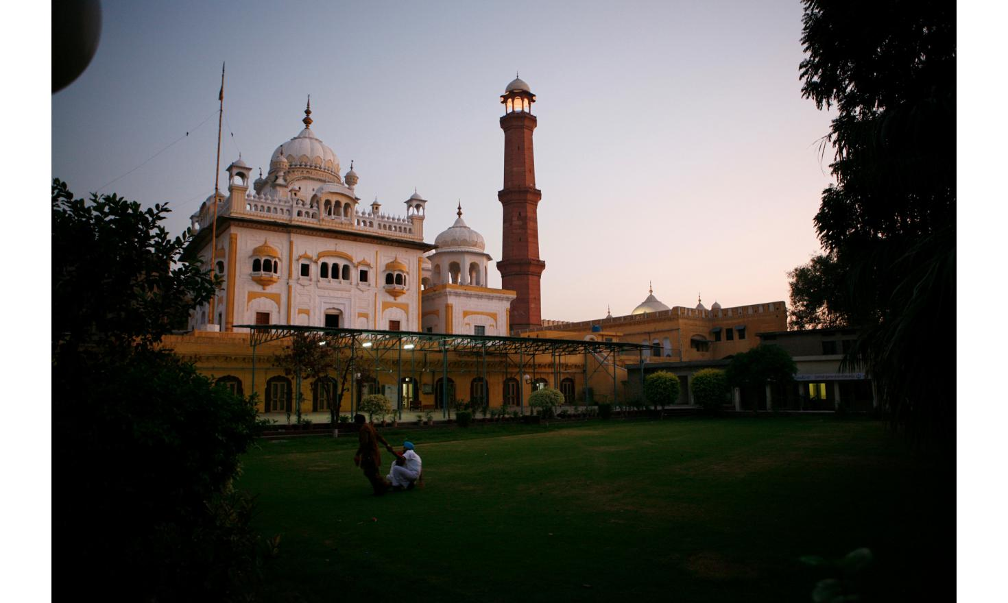Sikh temple in Lahore. They have mostly left Pakistan during the partition. But Guru Nanak, founder of Sikhism was born in Nankana Sahib, Punjab Pakistani town, still considered a holy place and pilgrimage site.